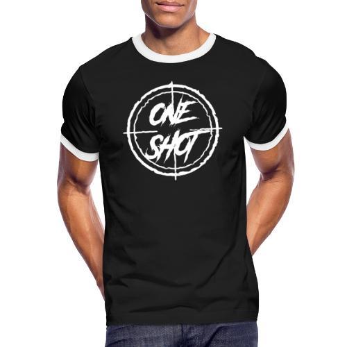 Oneshot Logo White - Men's Ringer Shirt