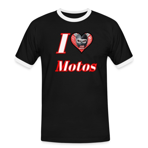 ilovemotos - Camiseta contraste hombre