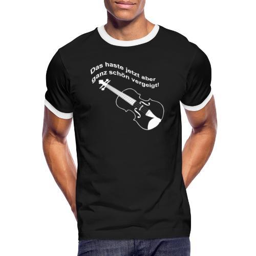 Das haste vergeigt. - Männer Kontrast-T-Shirt