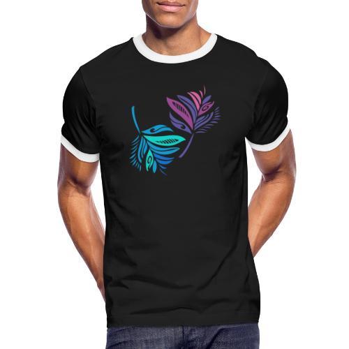foglie geometriche - Maglietta Contrast da uomo