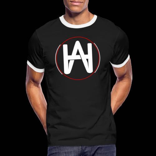 Hombre Alpha Logo en Blanco sobre Negro - Camiseta contraste hombre