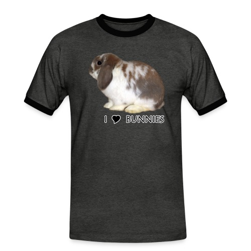 I Love Bunnies Luppis - Miesten kontrastipaita