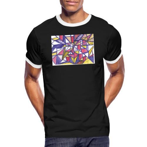 Flickenteppich - Männer Kontrast-T-Shirt