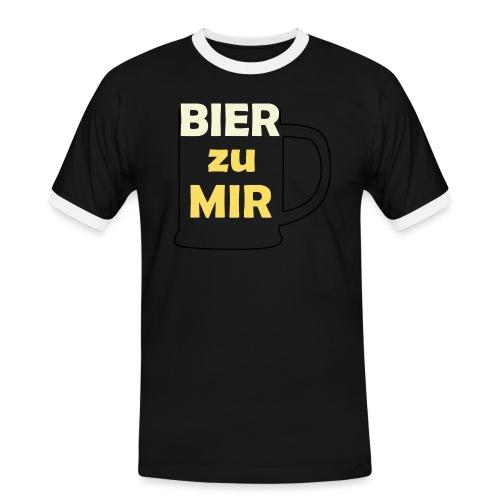 Bier zu mir - Männer Kontrast-T-Shirt