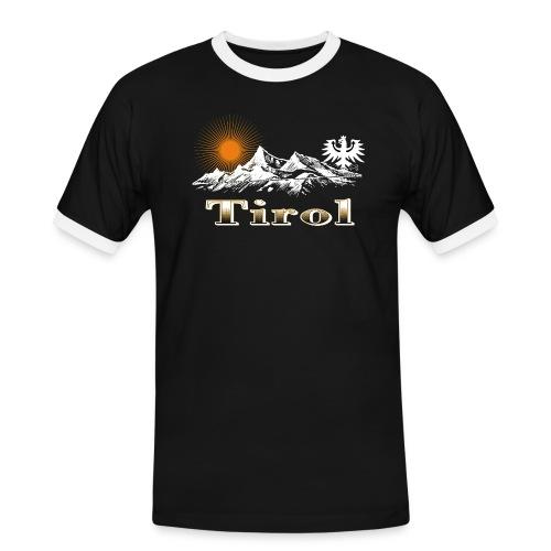 Tiroler Berge - Männer Kontrast-T-Shirt