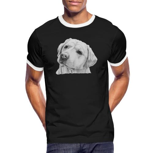 labrador retriever yellow - head - Herre kontrast-T-shirt
