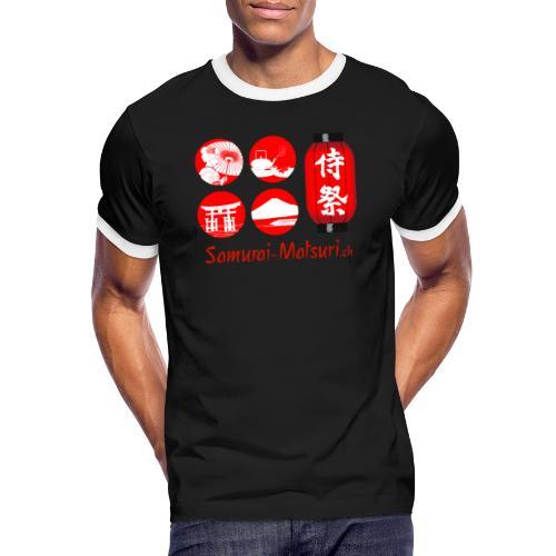 Samurai Matsuri Festival - Männer Kontrast-T-Shirt