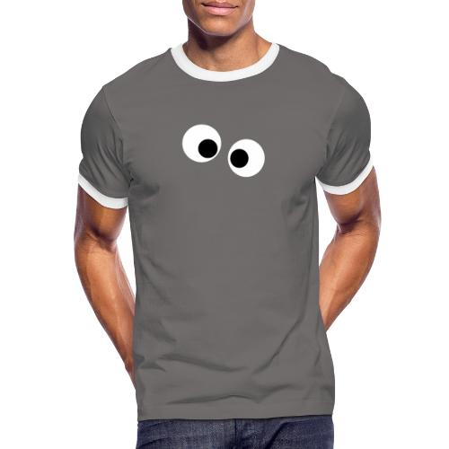 silly eyes - Mannen contrastshirt