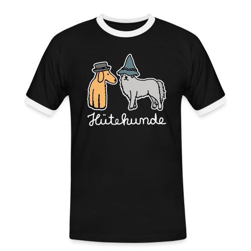 Hütehunde Hunde mit Hut Huetehund - Männer Kontrast-T-Shirt