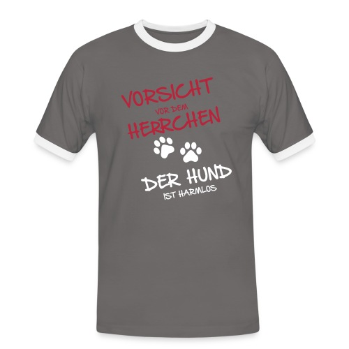 Vorschau: Vorsicht Herrchen - Männer Kontrast-T-Shirt