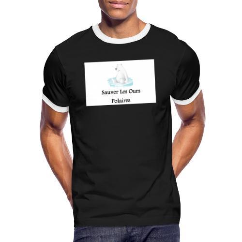 Sauver Les Ours Polaires - T-shirt contrasté Homme