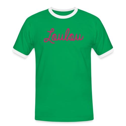 Logo-Roze - Mannen contrastshirt