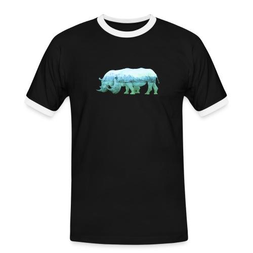 RHINOS, DIE NASHÖRNER IN DEN ALPEN - Männer Kontrast-T-Shirt
