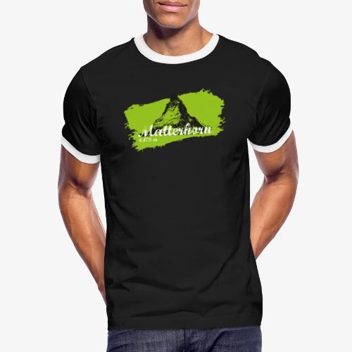 Matterhorn - Cervino en verde - Men's Ringer Shirt