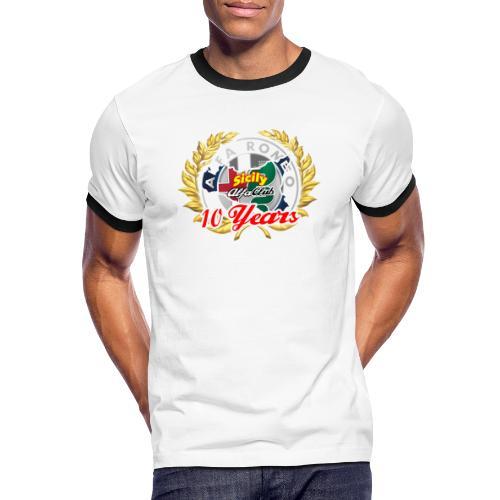 logo10 anni - Maglietta Contrast da uomo