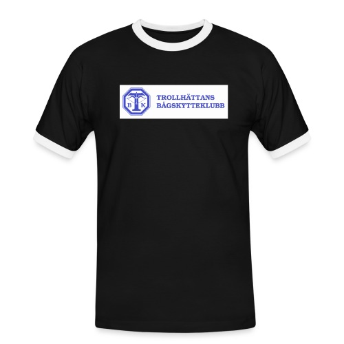 Piké Herr Slim - Tävlingströja med ryggtryck - Kontrast-T-shirt herr