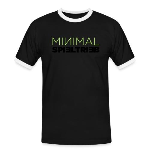 minimal spieltrieb - Männer Kontrast-T-Shirt