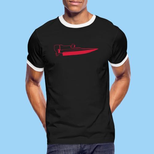 Powerboat GT30/GT15 Red - Kontrast-T-shirt herr