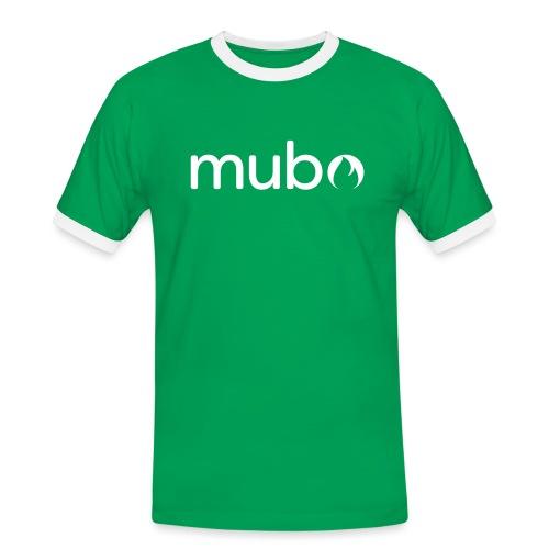 mubo logo Word White - Men's Ringer Shirt