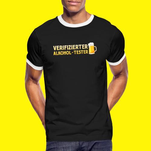 Verifizierter Alkohol-Tester - Männer Kontrast-T-Shirt