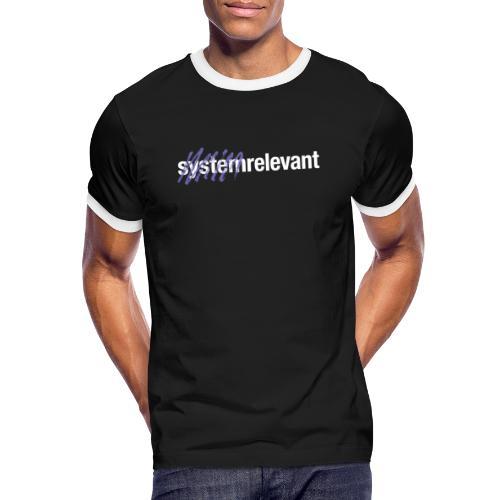 Systemlila - Männer Kontrast-T-Shirt