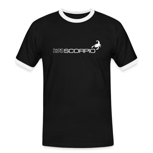 scorpio logo wit - Mannen contrastshirt