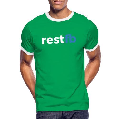 RestFB logo white - Men's Ringer Shirt