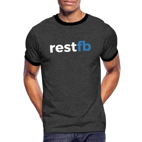 RestFB logo white - Men's Ringer Shirt