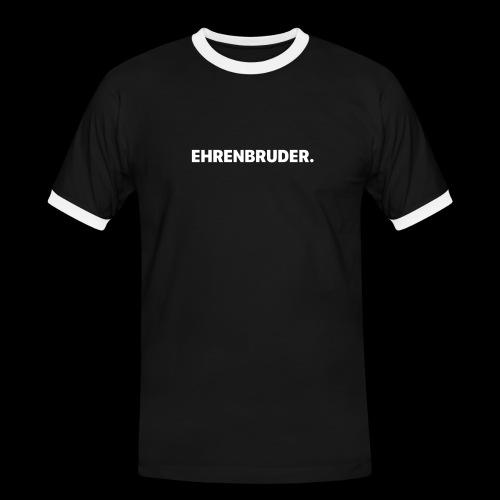 EHRENBRUDER-White - Männer Kontrast-T-Shirt