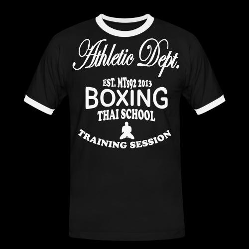 (high_school_couleur_uni) - T-shirt contrasté Homme