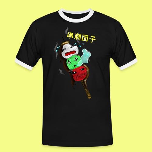 Reisbällchen am Spieß - Männer Kontrast-T-Shirt