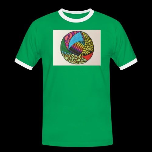 circle corlor - Herre kontrast-T-shirt