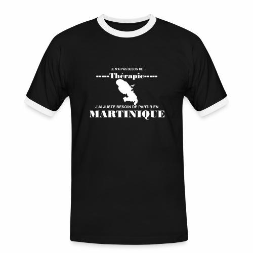 NUL BESOIN DE THERAPIE JUSTE LA MARTINIQUE - T-shirt contrasté Homme