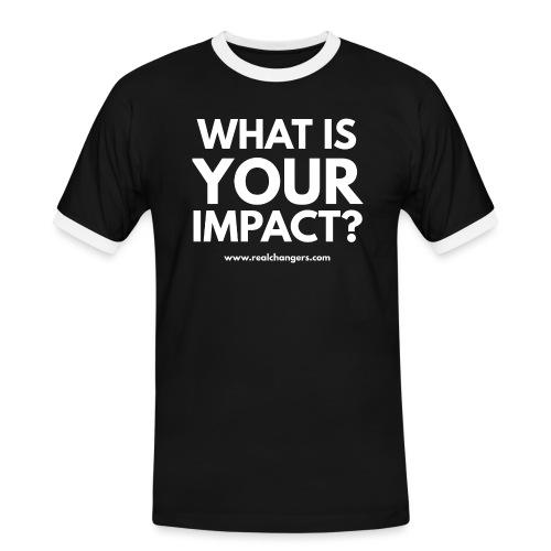 whatisyourimpact - Men's Ringer Shirt