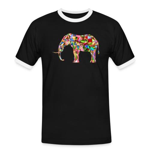 Gestandener Elefant - Männer Kontrast-T-Shirt