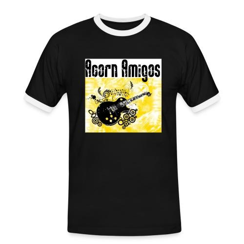 acorn amigos logo - Kontrast-T-shirt herr