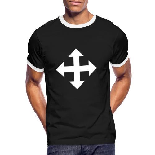 Pfeile oben unten links rechts weiss - Männer Kontrast-T-Shirt