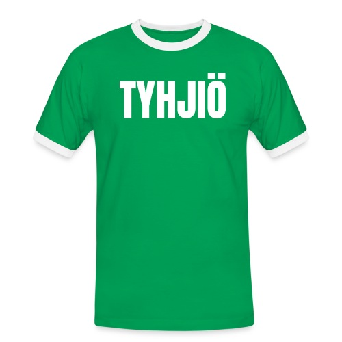 TYHJIÖ Logo White - Miesten kontrastipaita