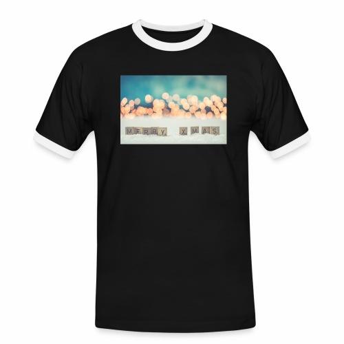Merry Christmas - Herre kontrast-T-shirt