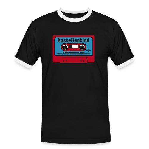 hspoldschool kassettenkind 3farbig auf s - Männer Kontrast-T-Shirt