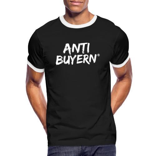 ANTI BUYERN WHITE - Männer Kontrast-T-Shirt