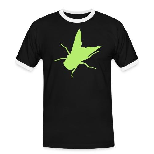 fliege - Männer Kontrast-T-Shirt