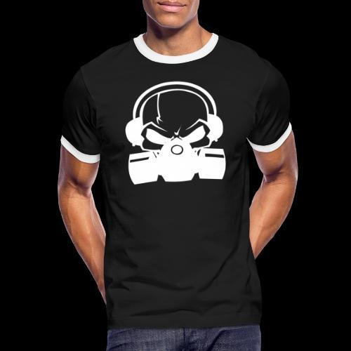 RSN Logo White achterkant - Mannen contrastshirt