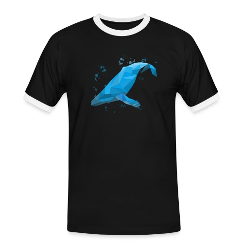 Wal Buckelwal Blauwal Naturschutz - Männer Kontrast-T-Shirt
