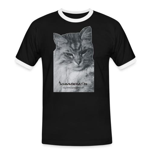 schmusekatze - Männer Kontrast-T-Shirt