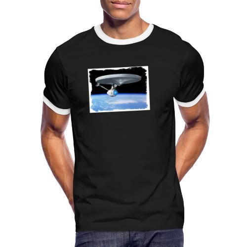 enterprise frame 2 - Kontrast-T-skjorte for menn