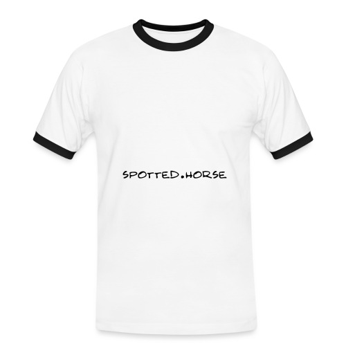 Cuore Appaloosa (bianco/rosso) - Maglietta Contrast da uomo