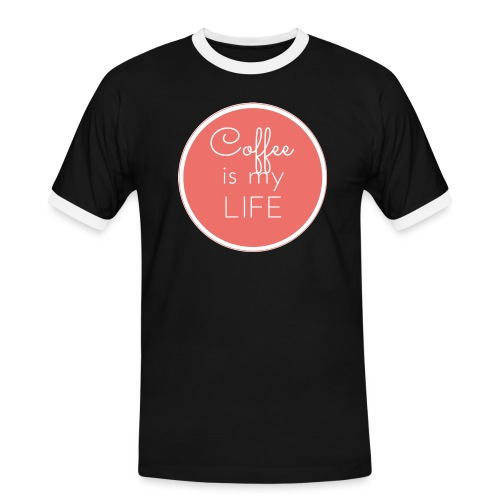 Coffee is my life - Camiseta contraste hombre