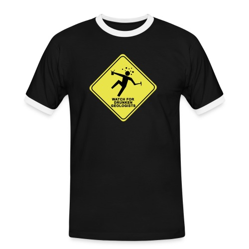 watch for drunken geologists english l - T-shirt contrasté Homme