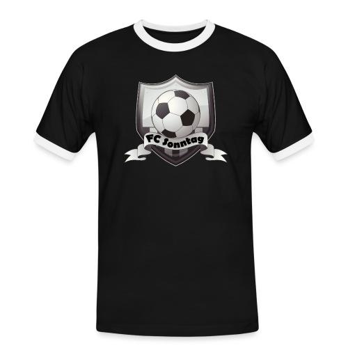 FC Sonntag Logo - Männer Kontrast-T-Shirt